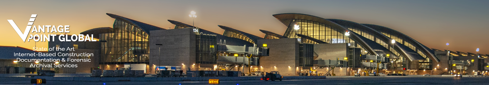 Tom Bradley Int'l Terminal at LAX at night